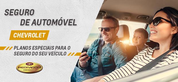 Carro com o Seguro Auto concessionária Chevrolet Pedragon Brasília