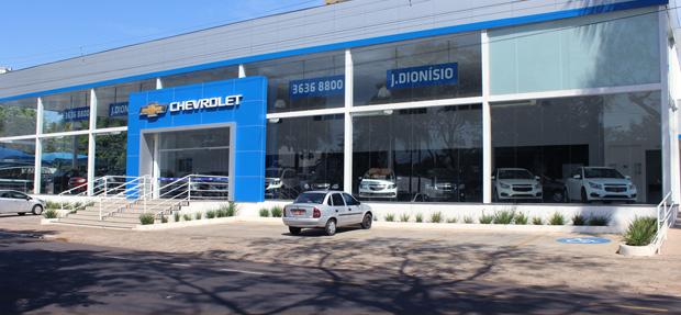 Fachada concessionária Chevrolet  J. Dionísio