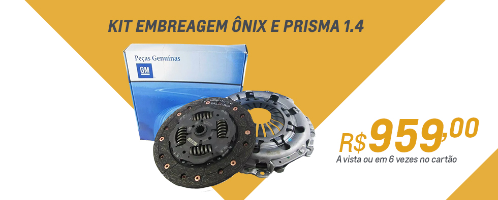 Kit embreagem  onix e prisma 1.4