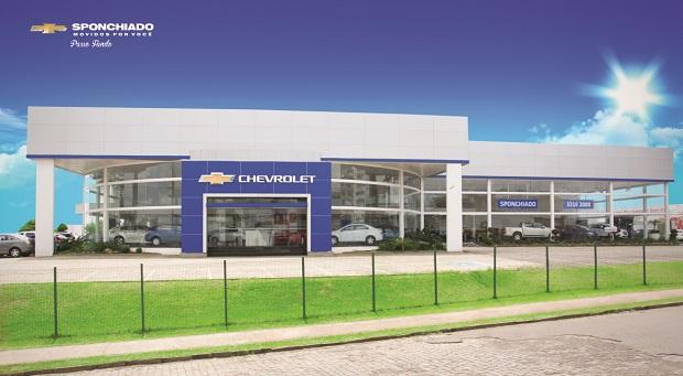 Fachada concessionária Chevrolet Sponchiado Passo Fundo
