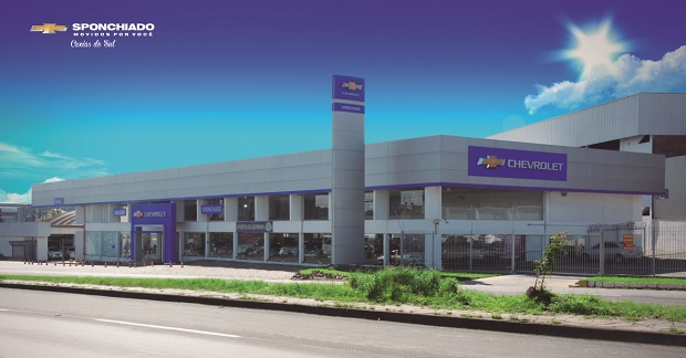 Fachada concessionária Chevrolet  Sponchiado Caxias do Sul