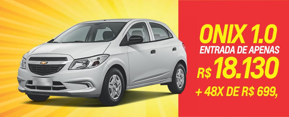 Chevrolet Onix 1.0 entrada R$ 18.130 e 48x  R$ 699