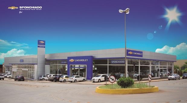 Fachada concessionária Chevrolet Sponchiado Ijuí