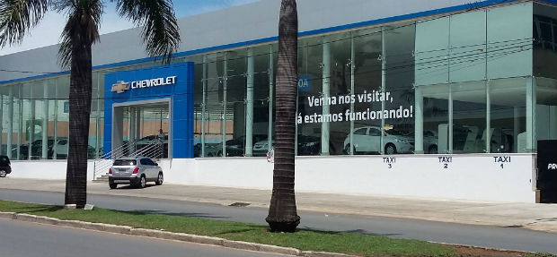 Fachada concessionária Chevrolet Lagoa