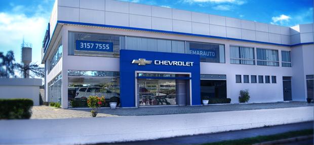 Fachada concessionária Chevrolet Chemarauto Lorena história e contato