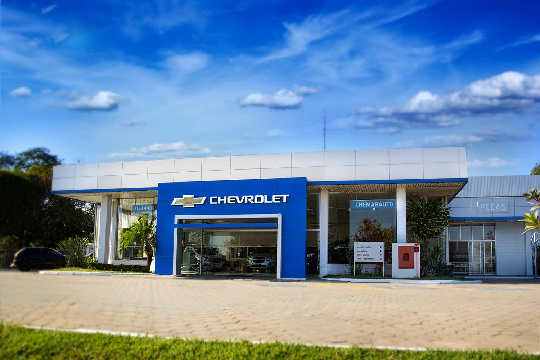 Fachada concessionária Chevrolet Chemarauto