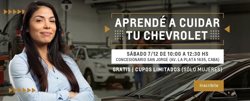 Curso de mecánica para mujeres en Chevrolet San Jorge