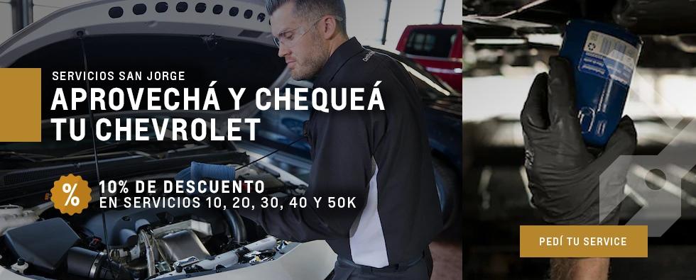 Chevrolet San Jorge: Descuento en servicios de 10 hasta 50k