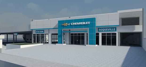 Fachada da concessionária Chevrolet Roqueville