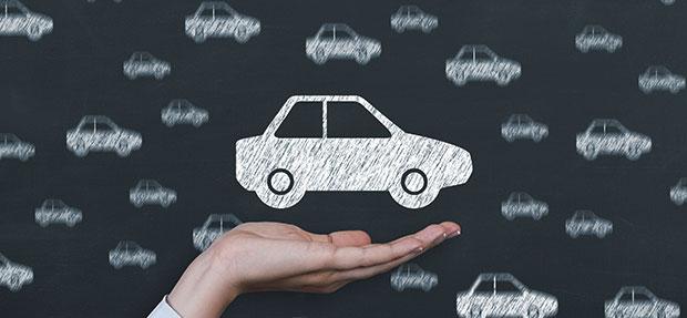 Carro com o Seguro Auto concessionária Chevrolet Dirija