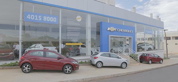 Fachada da concessionária Chevrolet Planeta Anápolis. Conheça a história, onde estamos e entre em contato.