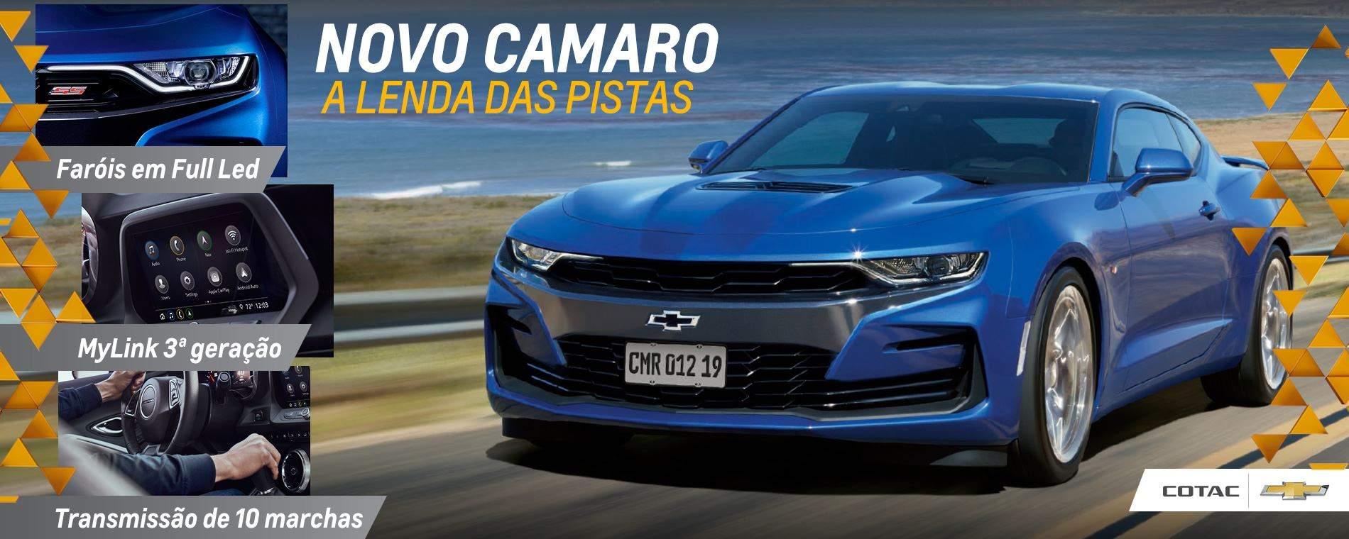 Novo Camaro Cupê: Encontre a lenda das pistas na Chevrolet Cotac