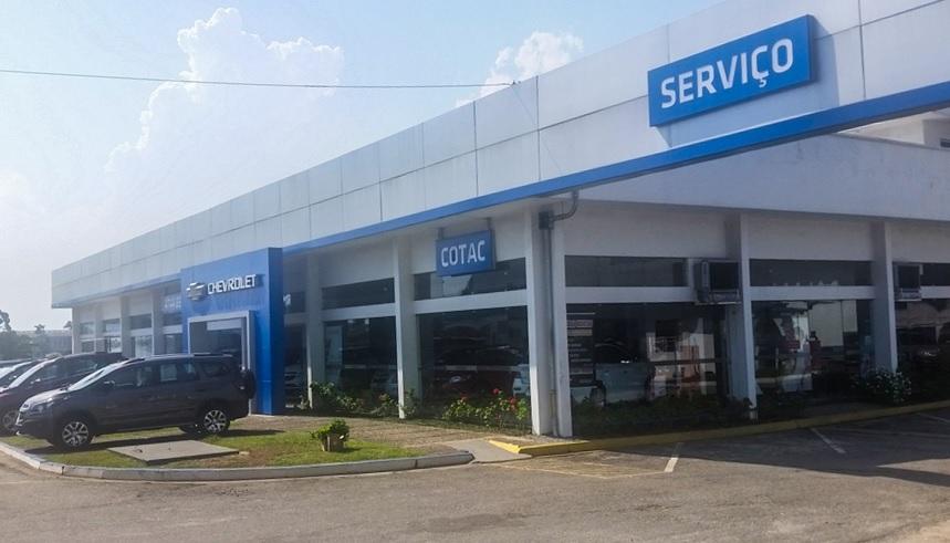Fachada concessionária Chevrolet Cotac