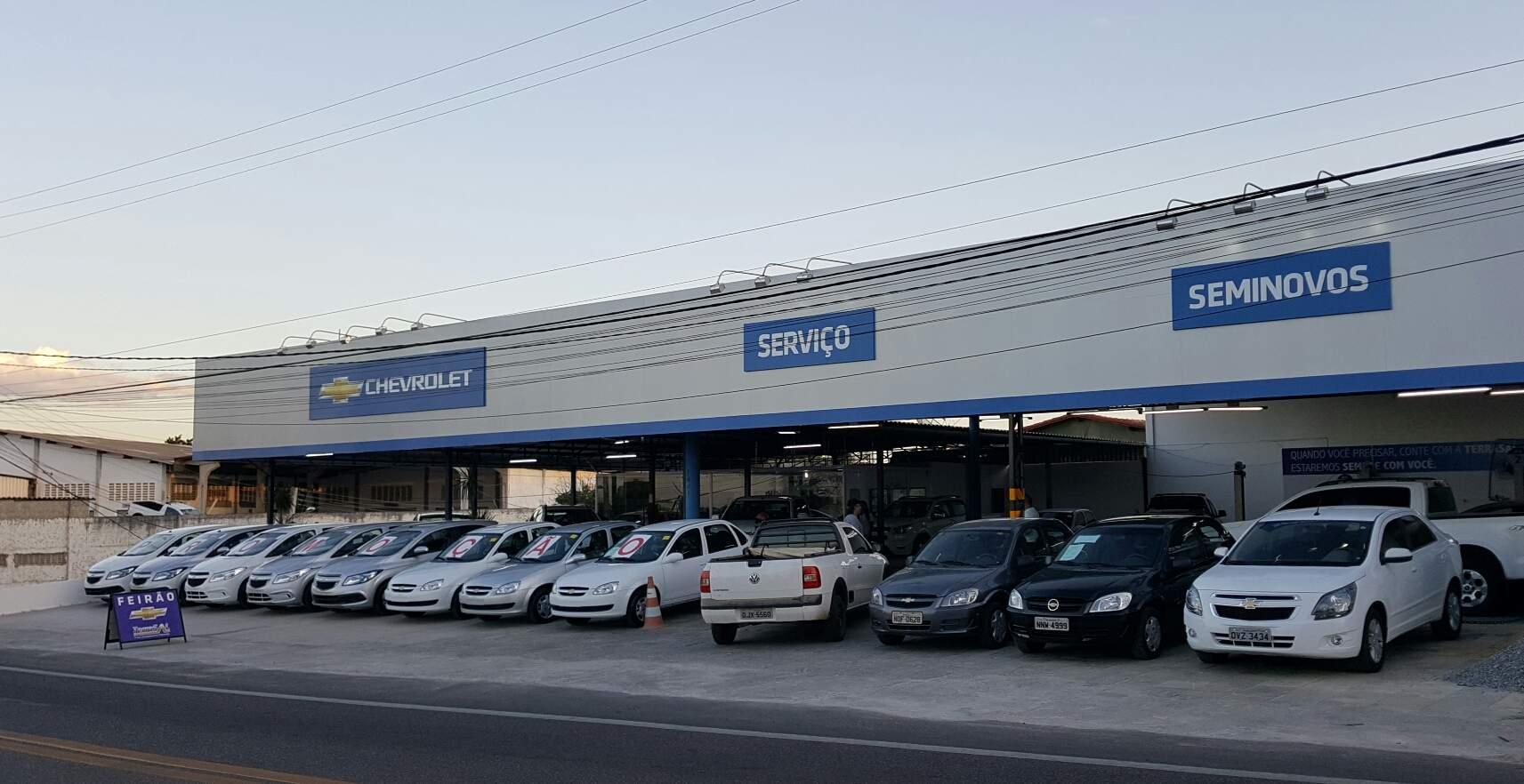 Fachada da concessionária Chevrolet Terrasal. Conheça a história, onde estamos e entre em contato.