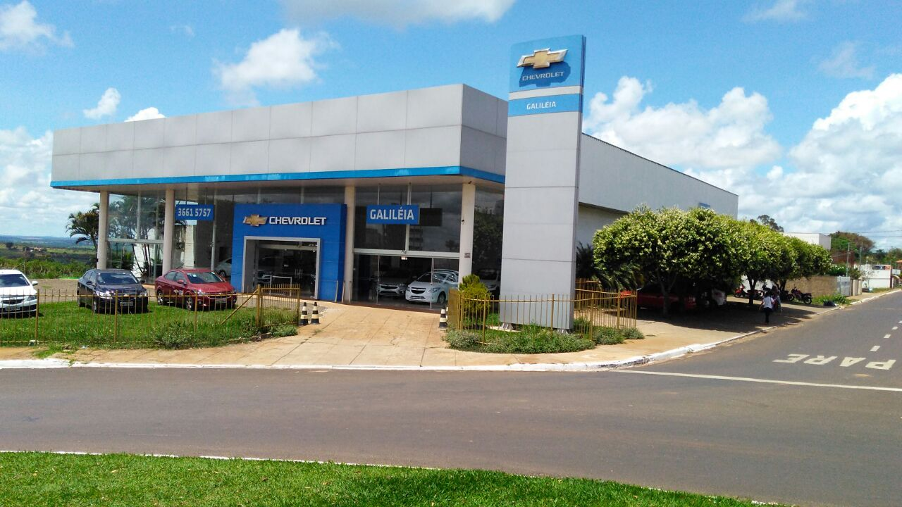 Fachada concessionária Chevrolet Galiléia Mineiros