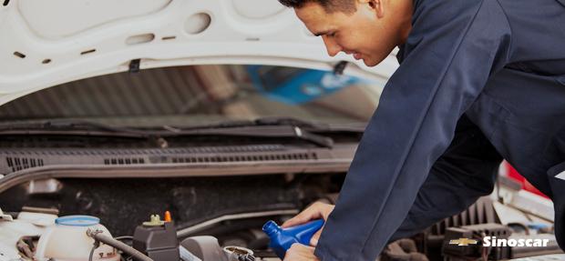 Serviços de manutenção e reparo para revisão de carros na concessionária Chevrolet Sinoscar