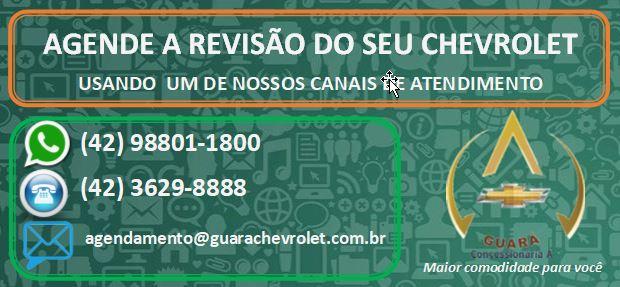 agende a revisão do seu veículos na Guará Chevrolet