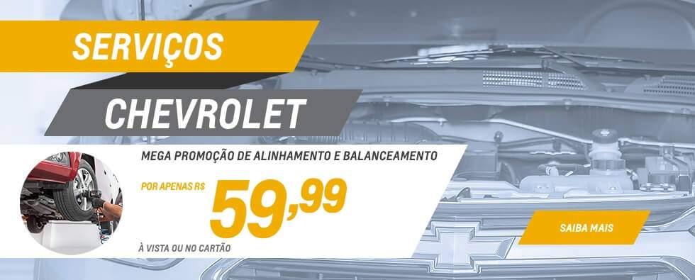 Serviço de alinhamento e balanceamento em promoção é na concessionária Chevrolet Autobelo
