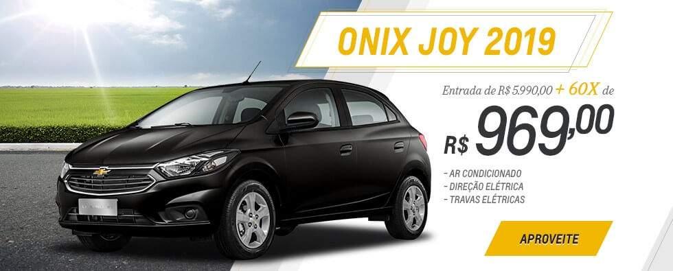 Onix Joy 2019 com entrada reduzida e saldo em 60 meses é na concessionária Chevrolet Autobelo