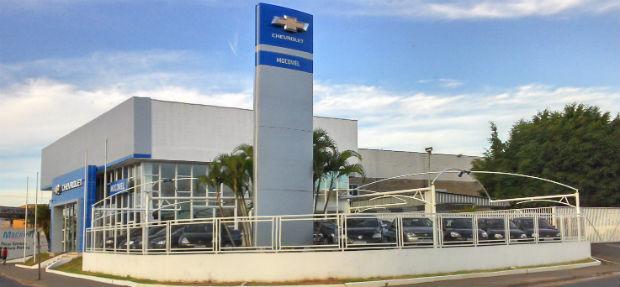 Fachada concessionária Chevrolet Mocovel Mococa