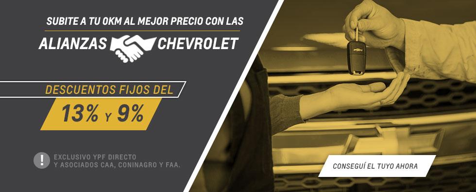 Alianzas Chevrolet en Comar Automotores