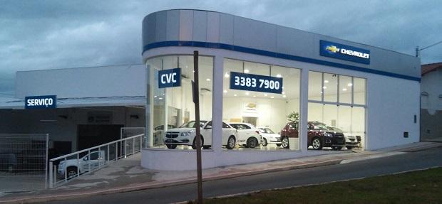 Fachada concessionária Chevrolet CVC.